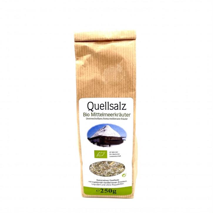 Quellsalz mit Bio-Mittelmeerkräuter 250g